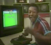 Campanha do vídeo-game Atari veiculado no começo dos anos 80 com Pelé, Kareem Abdul-Jabbar e Mario Andretti.