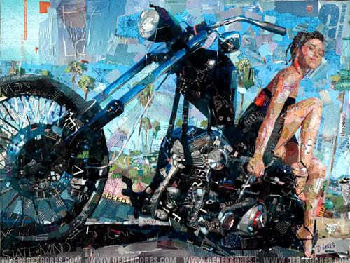 Doctor Ojiplático. Derek Gores. Collage