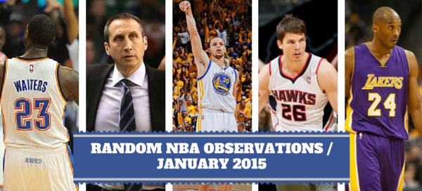 Random NBA Observations for January 2015