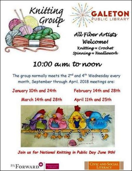 3-28 Knitting Group Galeton Library
