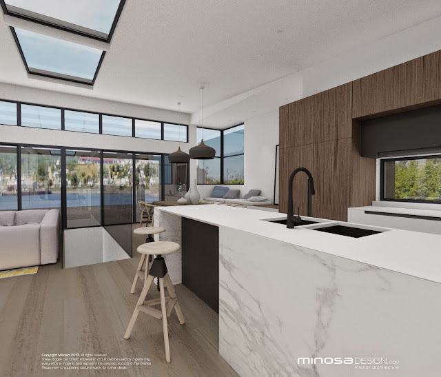 minosa the modernliving room centred around the kitchen. Black Bedroom Furniture Sets. Home Design Ideas