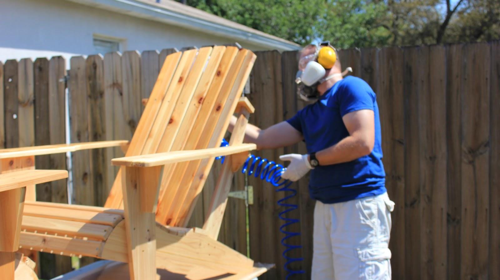 Finishing Cedar Adirondack Chair