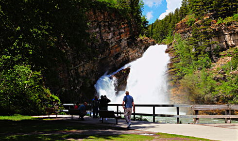 cameron falls waterton alberta rocky mountains travel photography