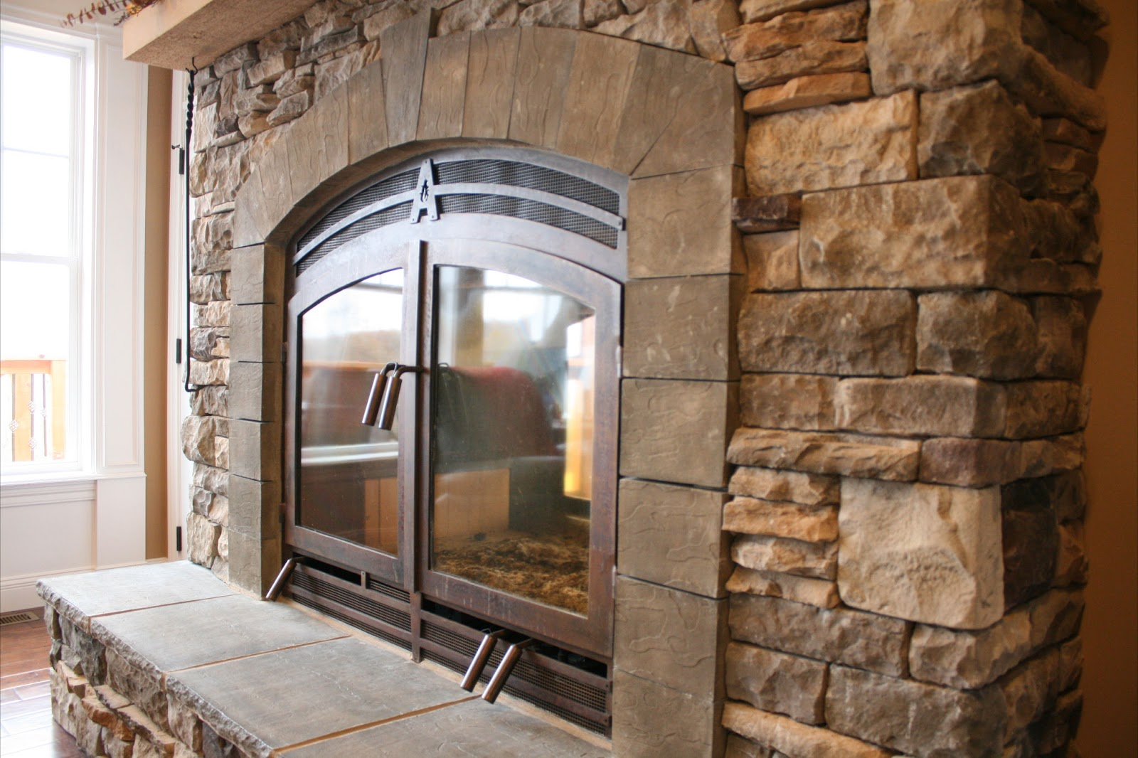 Acucraft Fireplaces: Indoor Outdoor See Through Fireplace