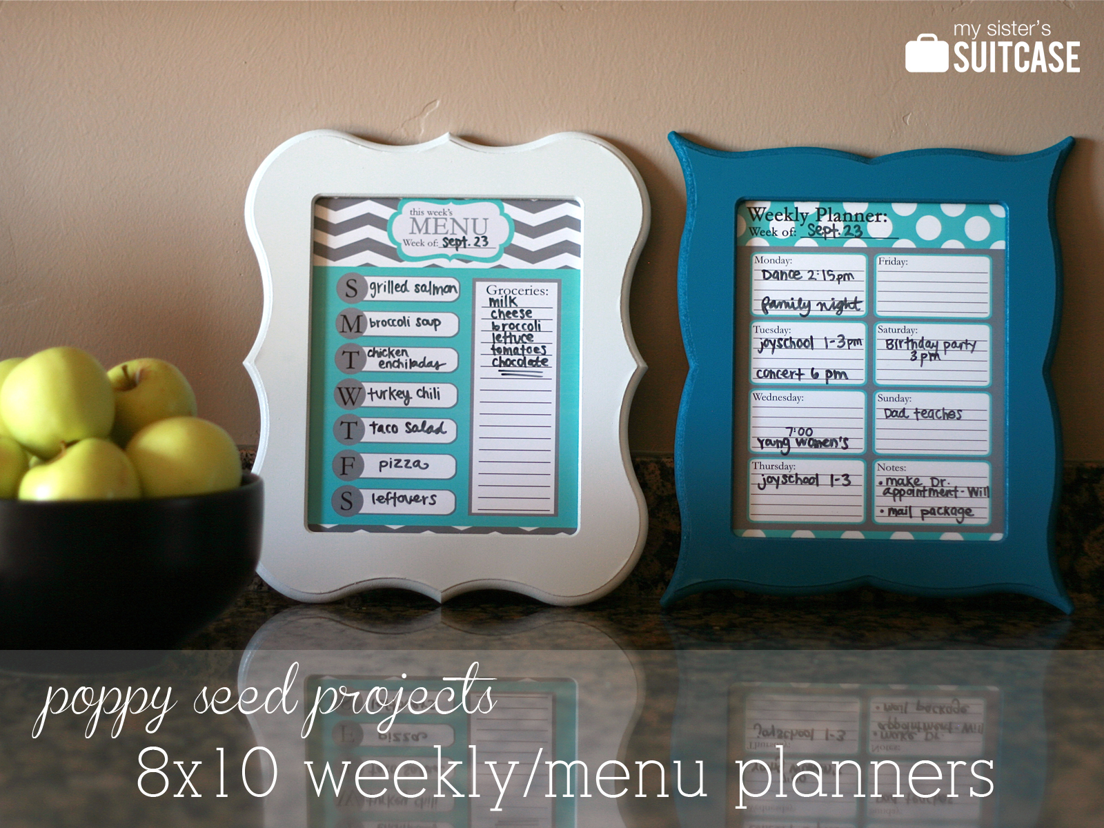 Blogiversary Week: Dry-Erase Menu & Weekly Planner - My Sister\'s ...