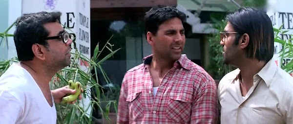 Screen Shot Of Hindi Movie Phir Hera Pheri (2006) Download And Watch Online Free at worldfree4u.com