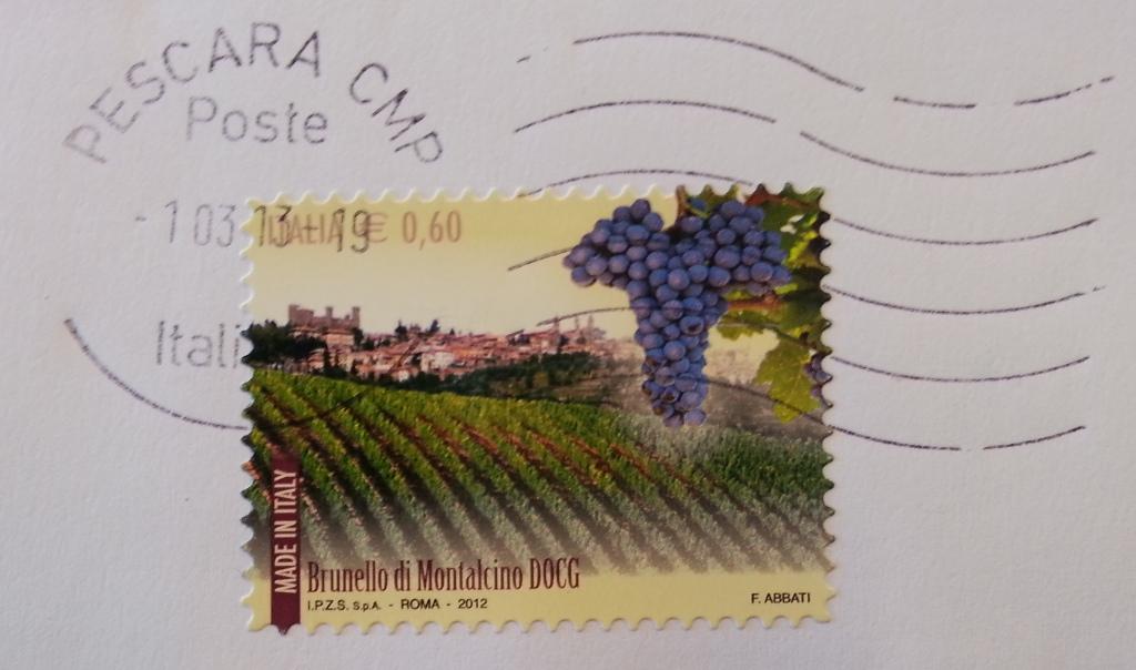 francobollo Brunello di Montalcino DOCG