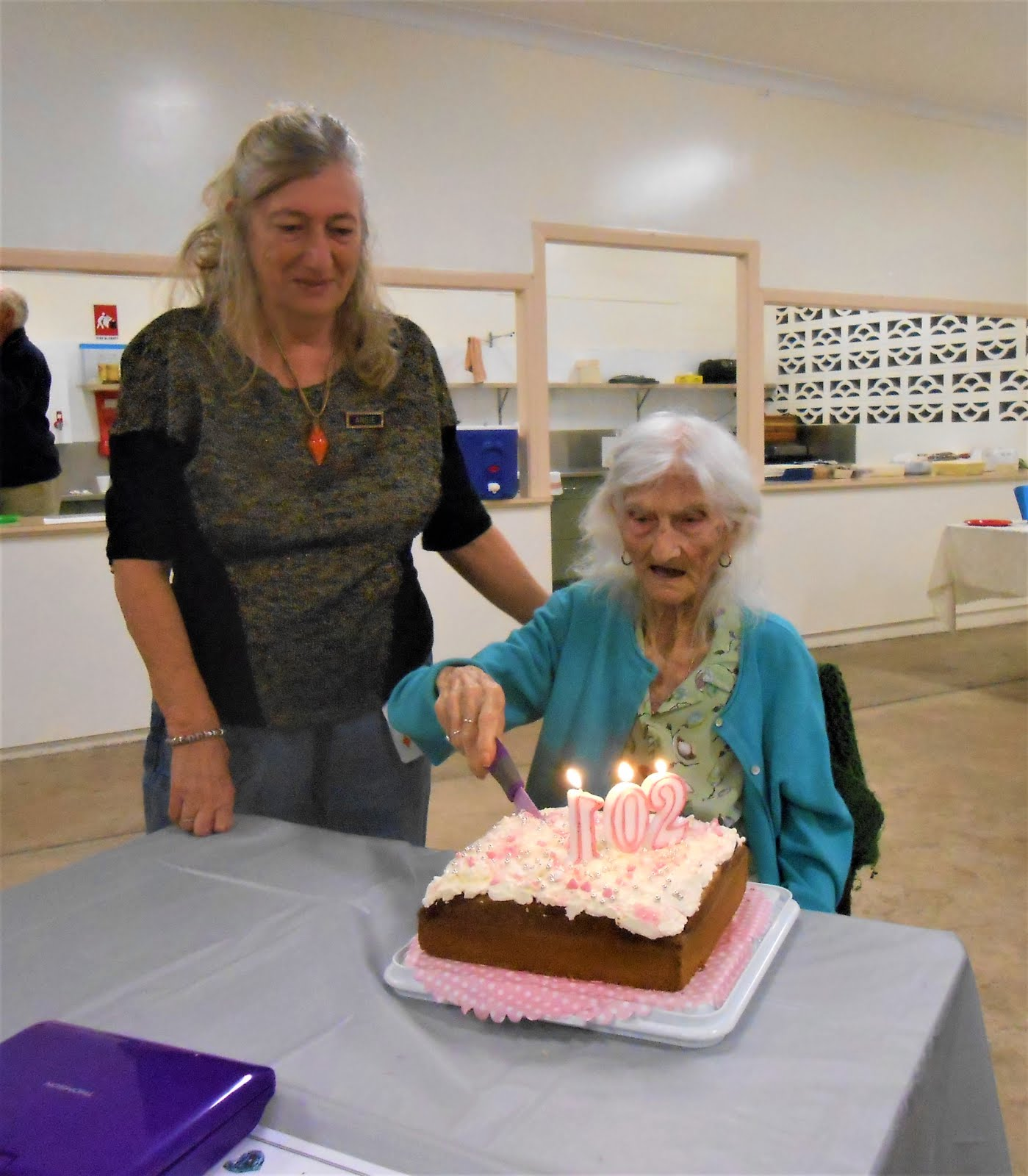Guess who's 102, not out?