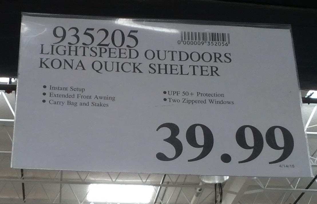 Lightspeed Outdoors Kona Quick Shelter Costco Weekender