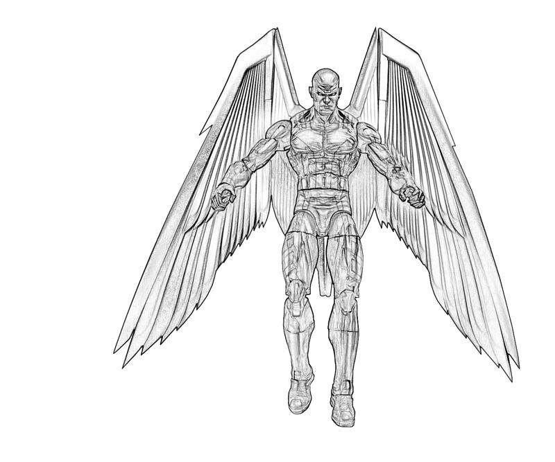 Archangel Character Coloring Pages title=