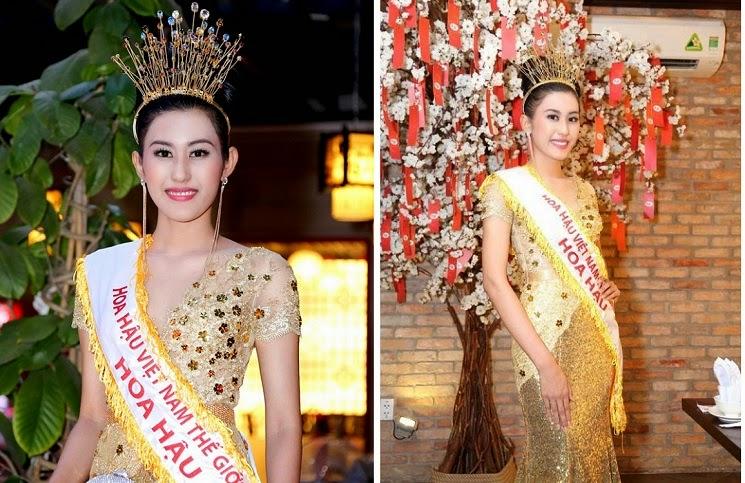 Cận cảnh vẻ đẹp rạng ngời của HH Việt Nam Thế giới 2014