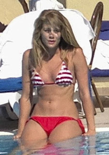 Retro Bikini Kimberly Matula Takes Out In A Red As She
