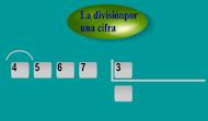 DIVISIÓN POR 1 CIFRA