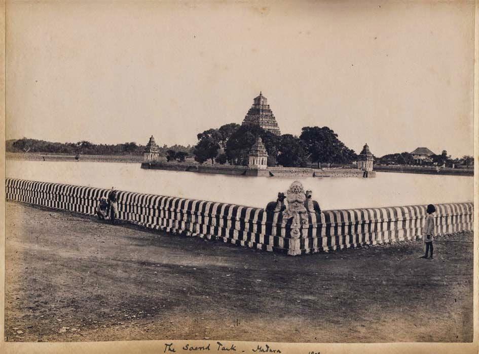 The Sacred Tank and Temple - Madurai, Tamil Nadu,  1898