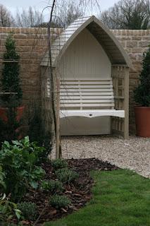 Cream Arbour Seat