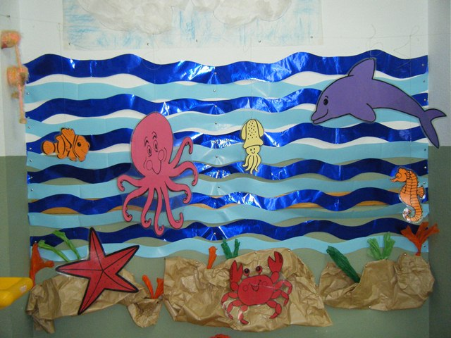 Mi clase de infantil decorado del mar for Acuario salon de fiestas