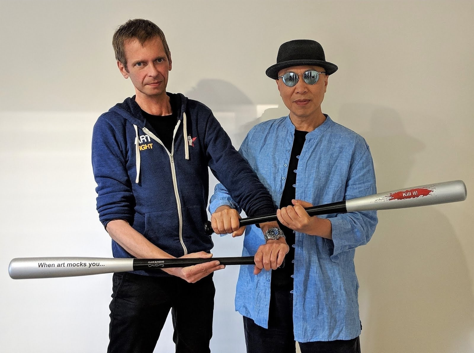 Klaus Guingand and Zhen Gao meet