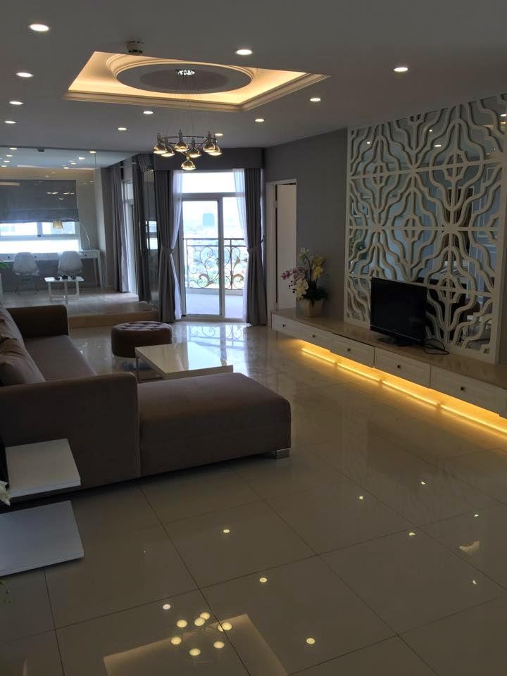 căn hộ flemington 218m2 phòng khách
