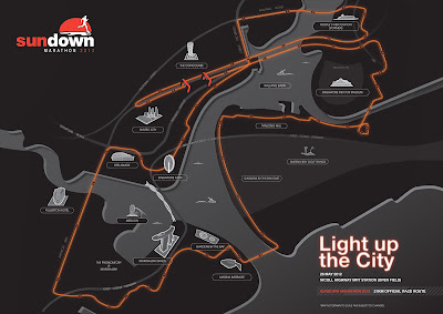 Sundown Marathon 2012 21KM Route Map