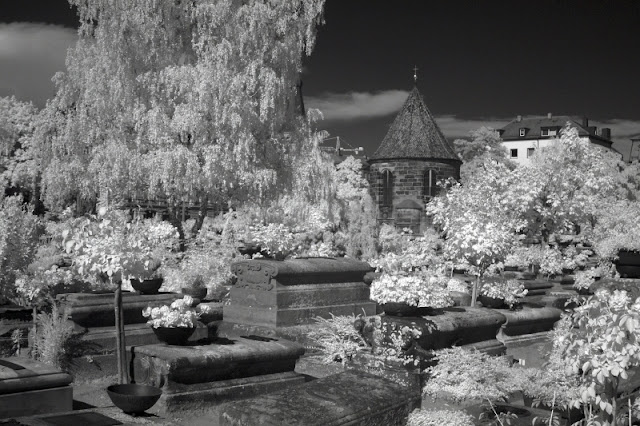 Johannisfriedhof infrared light