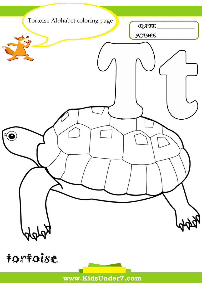 kids under 7 letter t worksheets and coloring pages - Letter T Coloring Sheets