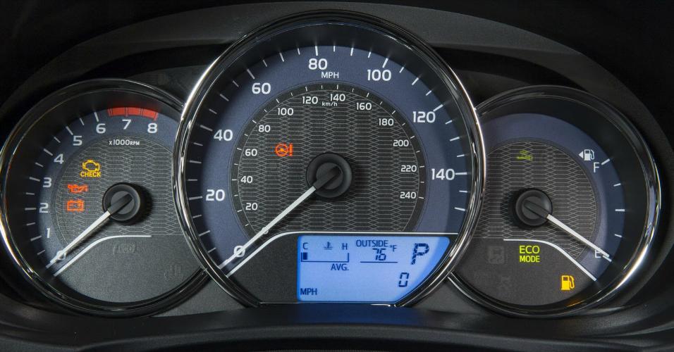 novo Toyota Corolla 2014 painel