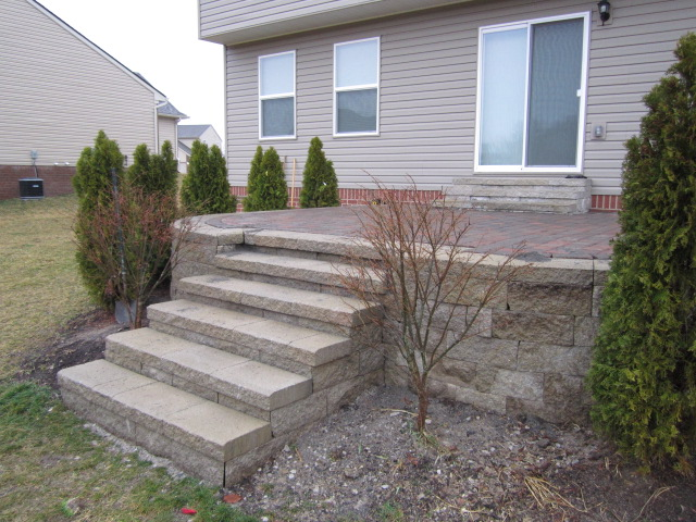 Elevated Brick Pavers Patio U0026 Steps Are Rebuilt