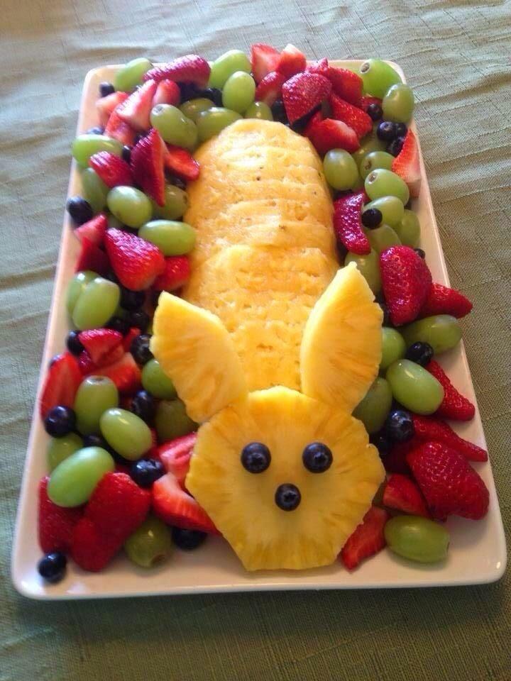 Easter Pineapple Fruit Centerpiece
