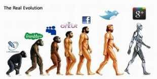 Evolución de las redes sociales humor