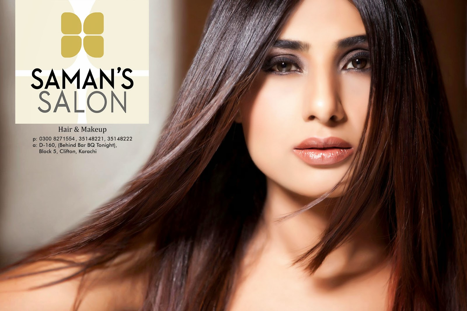 saman's salon hair makeup karachi