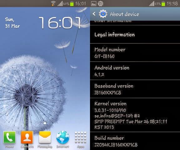 Upgrade Samsung Galaxy Ace 2 GT-I8160 ke Jellybean 4.1.2 Official