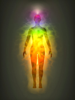 Human Energy Field with Front Chakras