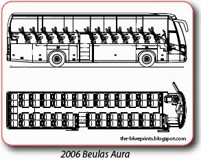 Vector blueprints cars trucks busses and others bus blueprints beulas malvernweather Images