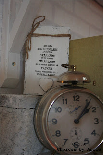 Väckarklocka, antik klocka, vackra ord
