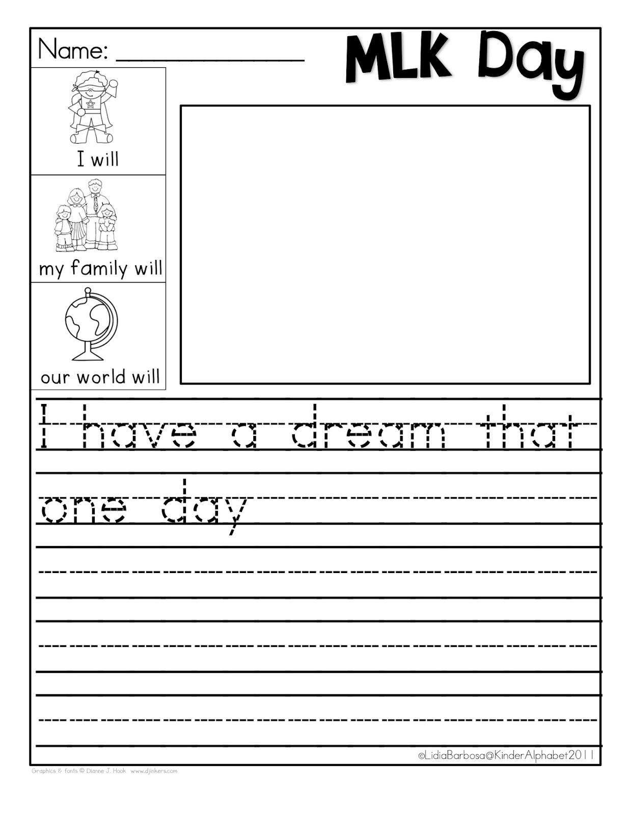 Martin Luther King Jr Worksheets I Have A Dream images free download – Martin Luther King Jr Worksheet