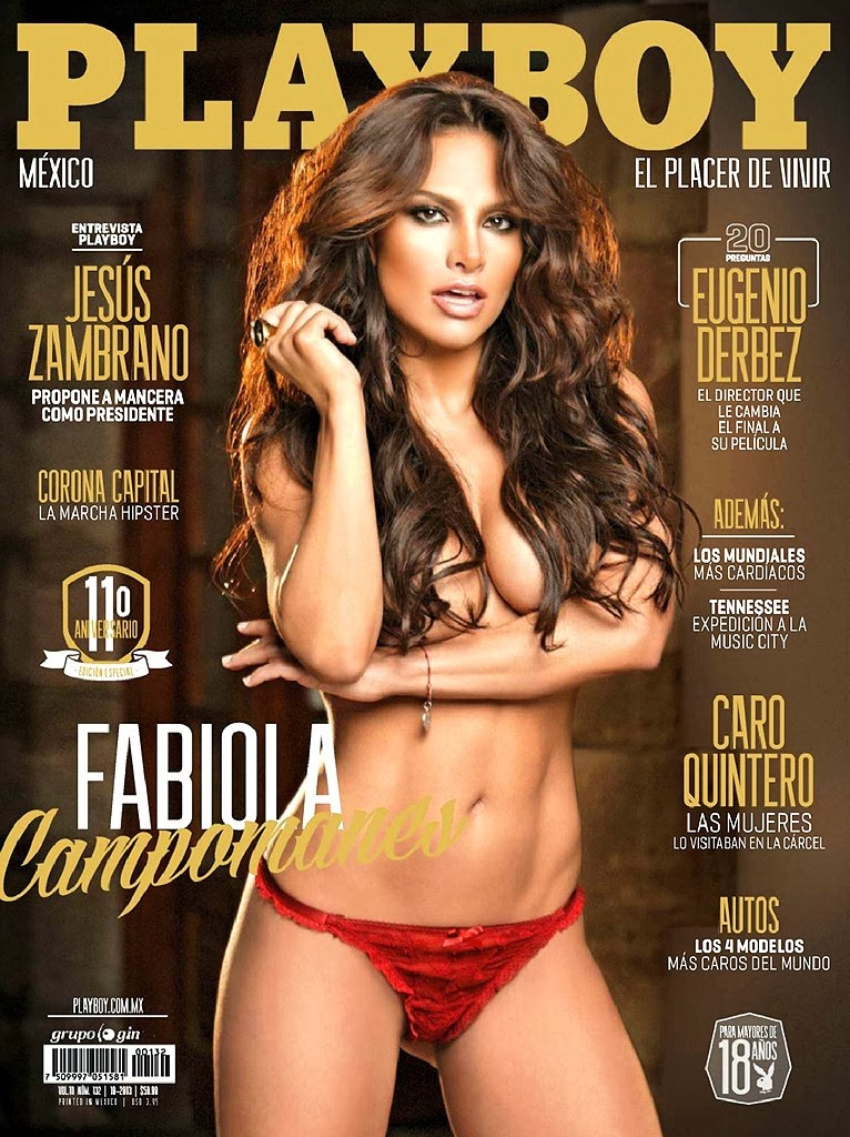 Fabiola Campomanes Playboy Meico Magazine October