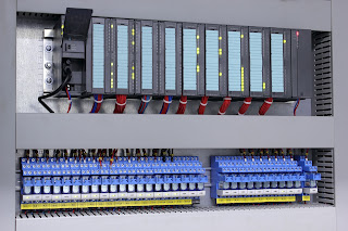 Programmable Logic controller in industrial control panel