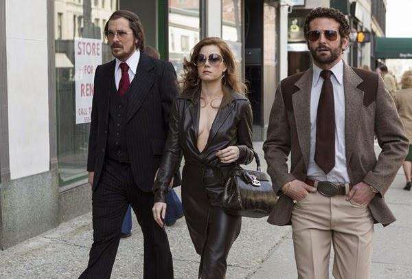 """Amy Adams , Christian Bale y Bradley Cooper en """"La Gran Estafa Americana"""""""