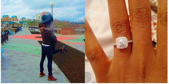 Photos: Footballer Uche Kalu proposes to his girlfriend