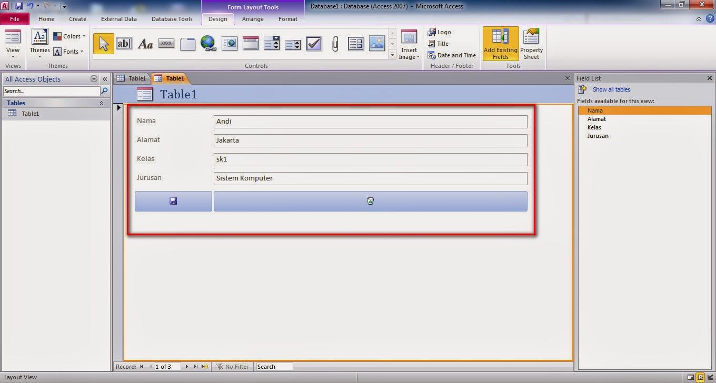 Cara Membuat Form Input Database Dengan Menggunakan  Microsoft Office Access