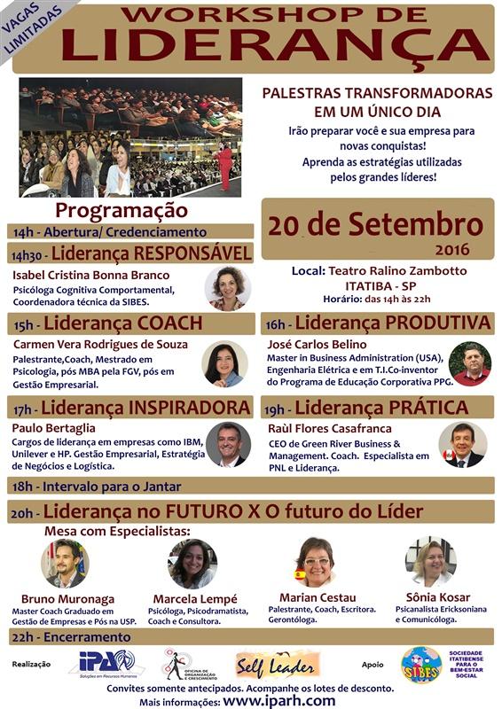 Workshop de LIDERANÇA em Itatiba/SP