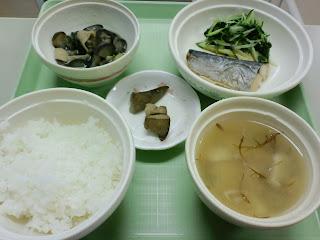 写真:パルス入院3クール5日目の夕食