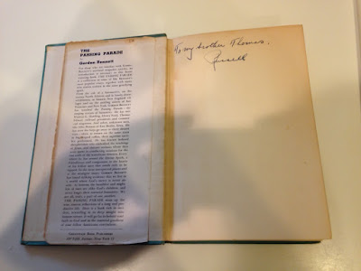 Climbing My Family Tree: The Passing Parade by Gordon Bennett pseud Russell Bennett) inside inscription and part of flyleaf