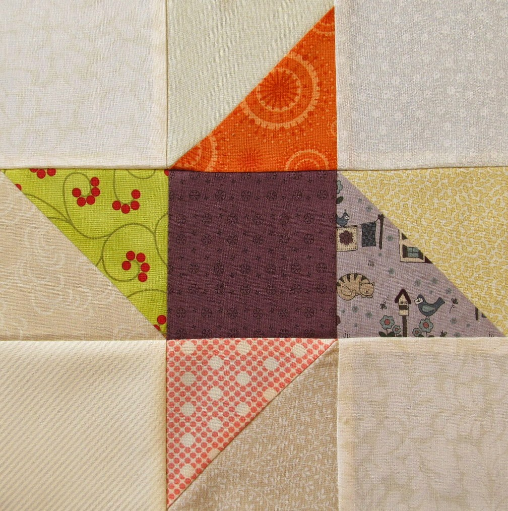 Triangle Quilt Pattern Block