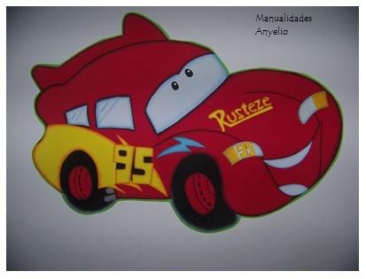 Manualidades de cars en goma eva - Imagui