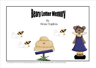 letters, uppercase, lowercase, go fish, memory, kindergarten, pre-k, bears