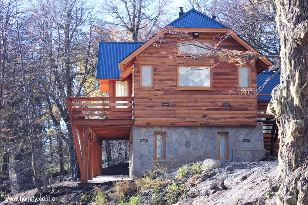 Arquitectura de casas casas caba as patag nicas de troncos - Construccion de casas rusticas ...