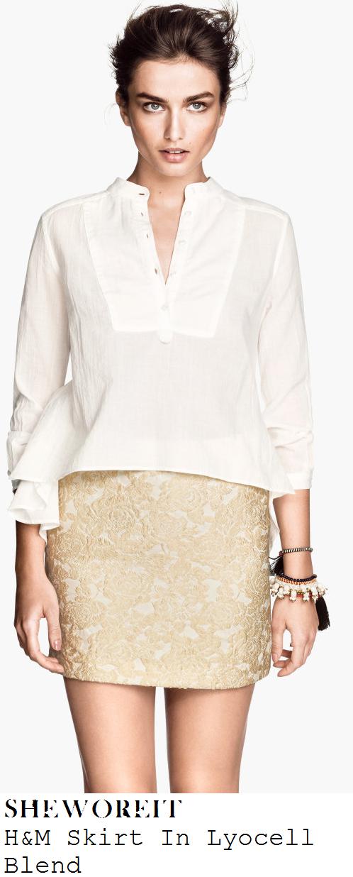 ferne-mccann-cream-jacquard-mini-skirt-george-asda-fashion-show