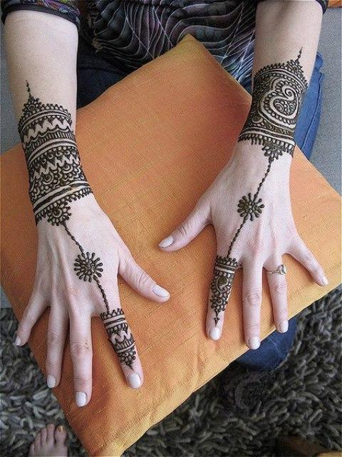 Mehndi Tattoo For Girls : Latest eid hand mehandi design catalog