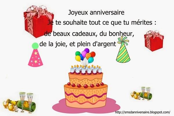 Message Joyeux Anniversaire En Francais